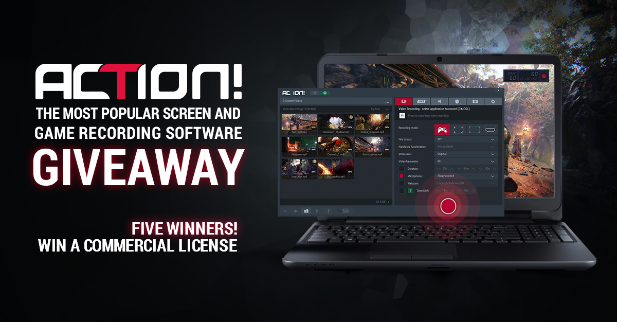 Action screen recorder giveaway