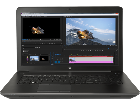high-end video editing laptop HP
