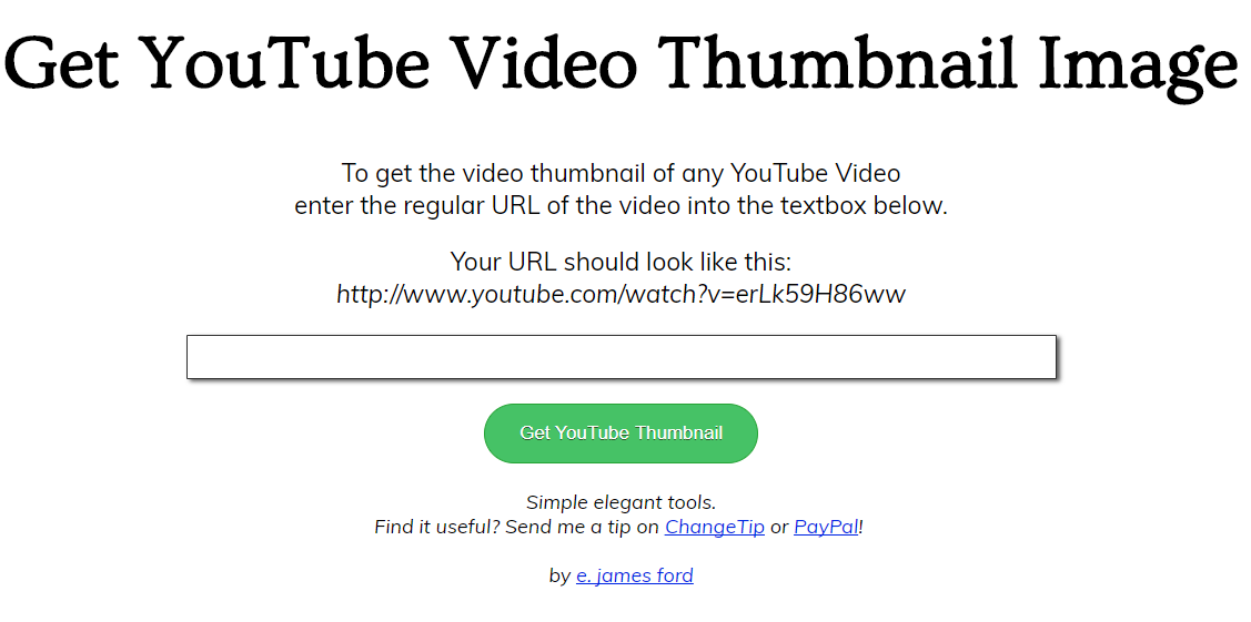 thumbnail grabber from get youtube video thubnail
