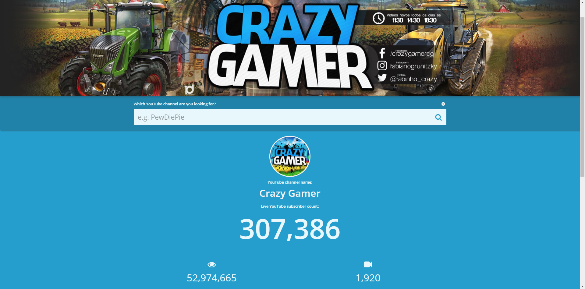 subscribercounter real-time subscriber counter for crazy gamer