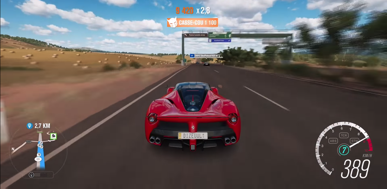 Forza Horizon 3 car race in fields