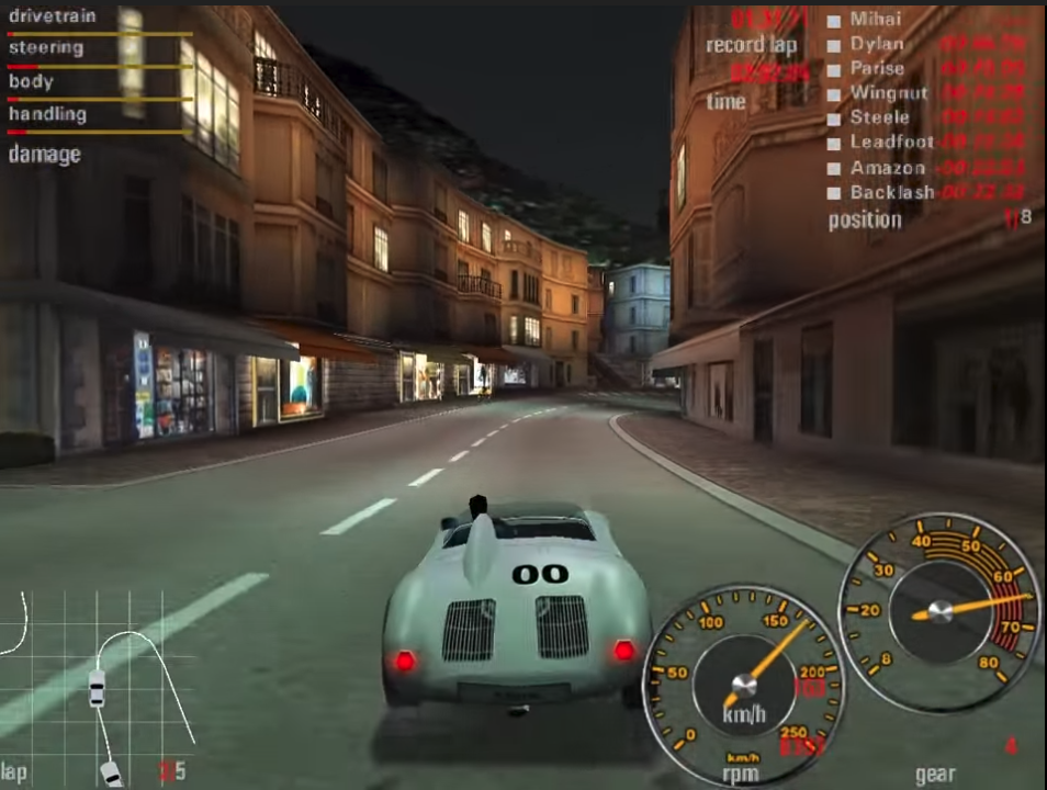 Need for Speed: Porsche 2000 car race in a town