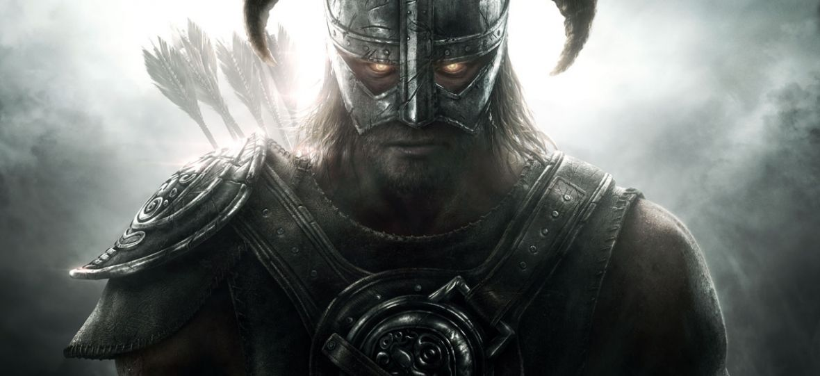 portrait of a strong man wearing a viking-like armor,