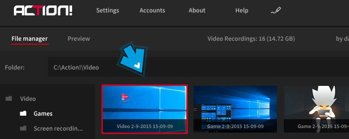 Mirillis Action! - desktop region recording thumbnail