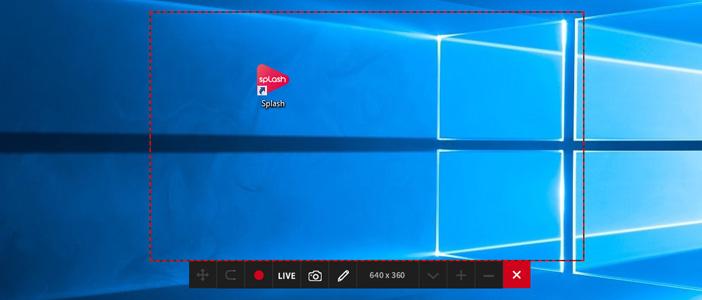 Mirillis Action! - red frame shows desktop region recording in progress