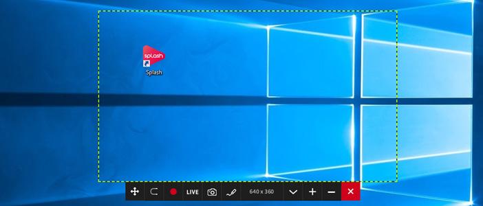 Mirillis Action! - selecting desktop area in active desktop region recording mode
