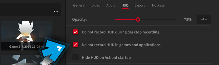 Mirillis Action! - Settings - Do not record HUD in DirectX 12 games and applications