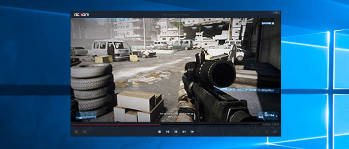 Mirillis Action! - gameplay recording playback with Action! player