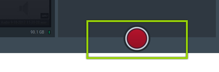 Mirillis Action! - Start/Stop recording button