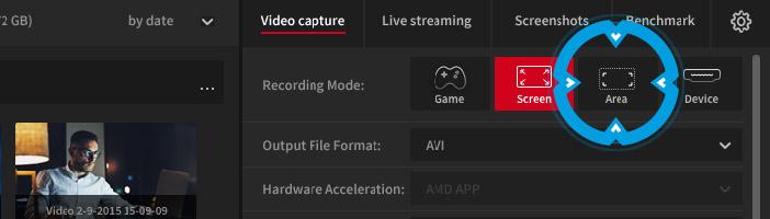 Mirillis Action! - active desktop region recording mode