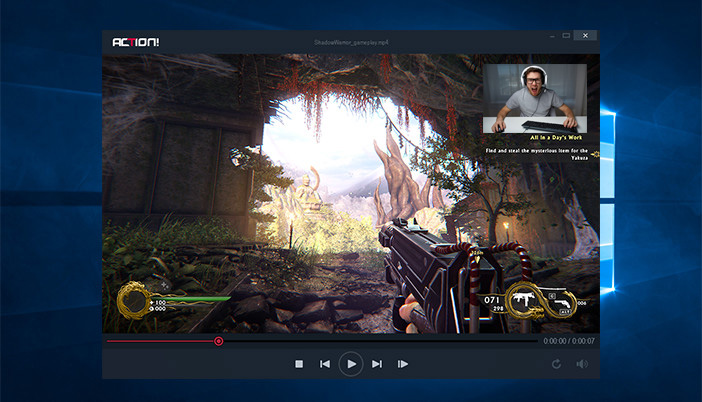 Add webcam video to gameplay recordings with Action!