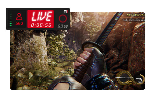 Live Stream your gameplay in HD with low CPU usage!