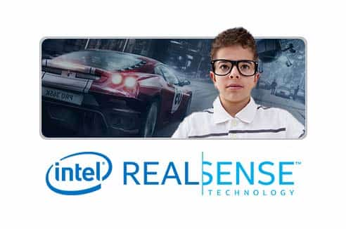Webcam background removal with Intel® RealSense™ technology!