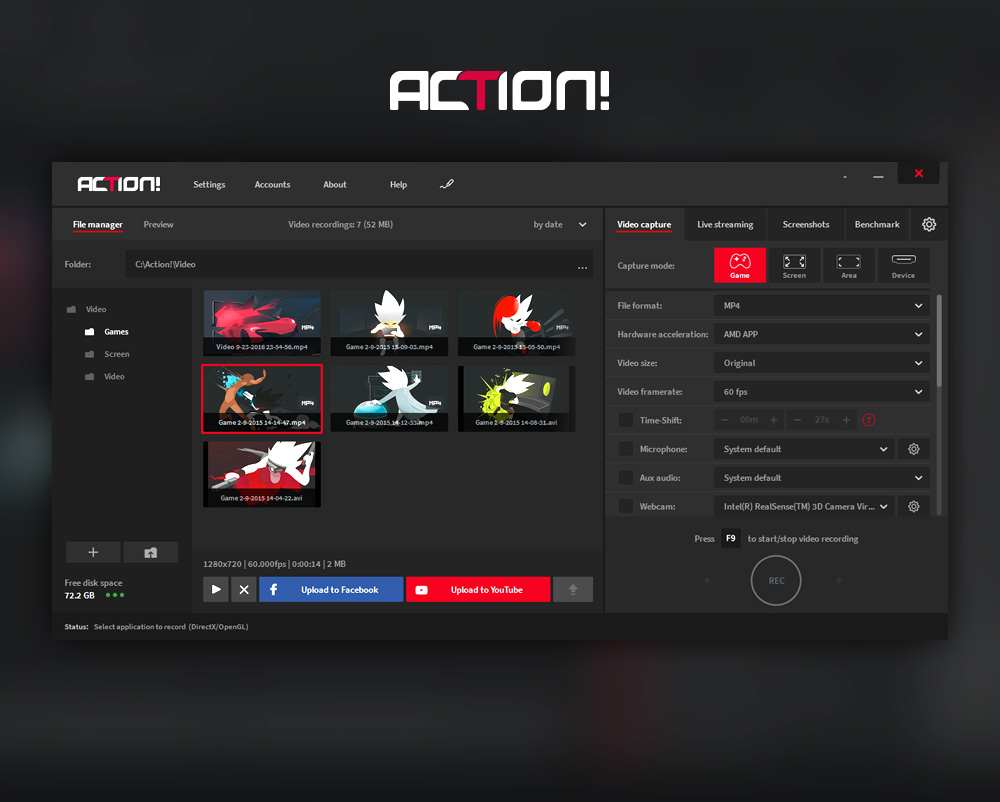 Action! - Screenshots of the best screen recording software